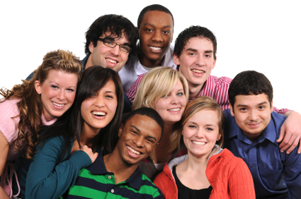 A beautiful multi-ethnic group of young adults.